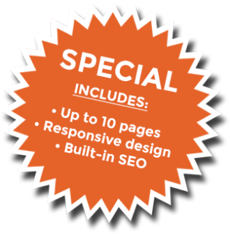 Web design special includes 10-page website, responsive design and built-in SEO
